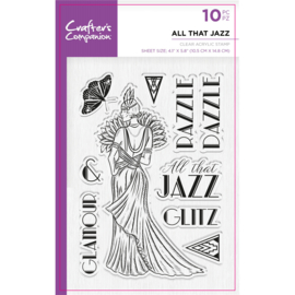 Crafter's Companion Clear stempel - All that jazz