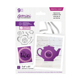Gemini Shaped Create a Card snijmal - Time for Tea