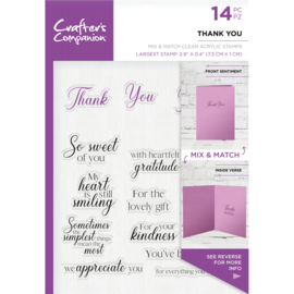 Crafter's Companion Sentiment & Verses Clearstamps - Thank You