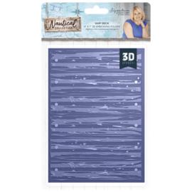 Sara Signature Collection Nautical - 5x7 3D Embossing folder - Ship Deck