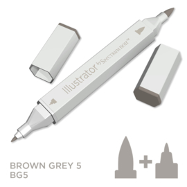 Spectrum Noir Illustrator losse pennen - Brown Grey (Bruingrijs BG5)