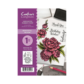 Crafter's Companion A6 unmounted rubberen stempel - Beautiful Bloom