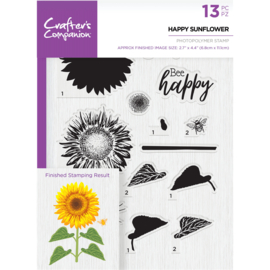Crafter's Companion A5  clearstamp - Happy Sunflower