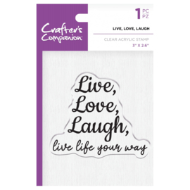Crafter's Companion Clear stempel - Live, Love, Laugh
