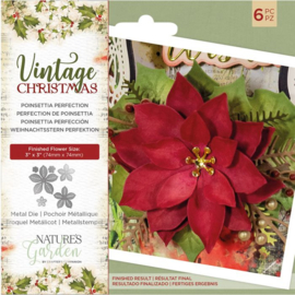 Vintage Christmas snijmal - Poinsettia Perfection