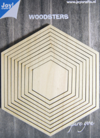 Woodsters - Deco-schudkaart hexagon