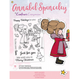 Annabel Spenceley Clearstamp - Happy Holidays