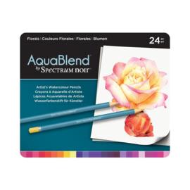 AquaBlend Potloden a 24 stuks - Florals