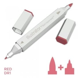 Spectrum Noir Illustrator losse pennen - Red (Rood DR1)