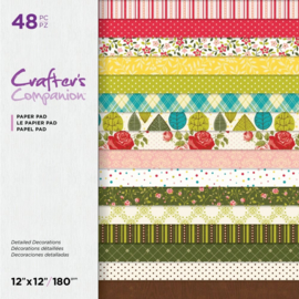 "Crafter's Companion 12""x12"" (30x30 cm) paperpad - Gedetailleerde decoraties"