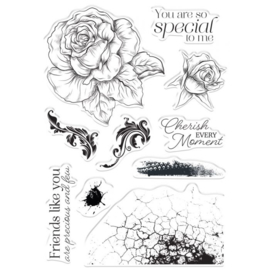 Crafter's Companion Collage Clearstamps -  Cherish Every Moment