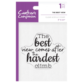 Crafter's Companion Clear stempel - The best view