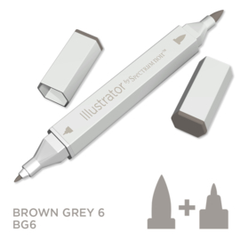 Spectrum Noir Illustrator losse pennen - Brown Grey (Bruingrijs BG6)