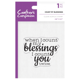 Crafter's Companion Clear stempel - Count my blessings