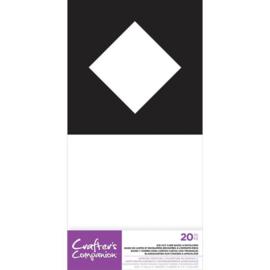 """CC 5""""x7"""" Voorgestanste Basiskaart&Envelop - Ruit Diafragma"""