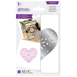 Gemini Layered Engraving Elements snijmal -  Decorative Heart