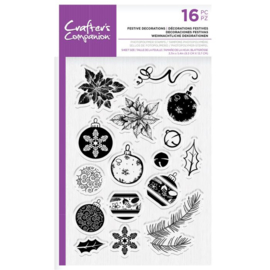 Clearstamp Kerst set - Festive Decorations