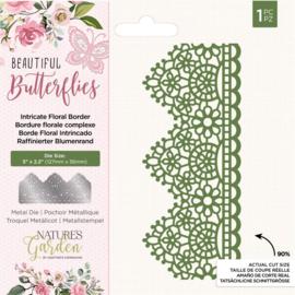Beautiful Butterflies - Metalen snijmal - Intricate Floral Border