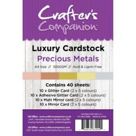 Crafter's Companion Luxury Cardstock Precious Metals A4