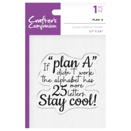 Crafter's Companion Clear stempel - Plan A