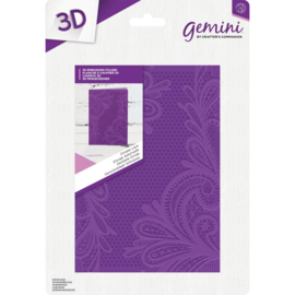 "Gemini 5""x7"" cm 3D-embossingfolder - Ornate Lace"