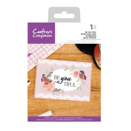 Crafter's Companion Clear stempel - Be You Tiful