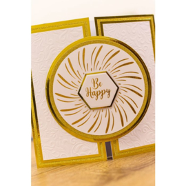 Foil Stamp 'N' Cut snijmal - Elements - Be Happy