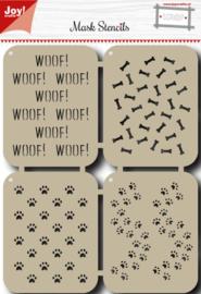 Polybesa Scrap Maskstencil - Honden