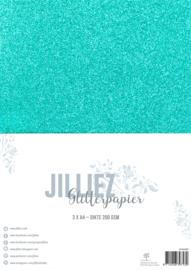 Jilliez A4 Glitterpapier Zeegroen