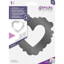 Gemini Foil Stamp 'N' Cut snijmal - Elementen - Biarritz Frame