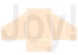 Polybesastencil - Kaartmodel Geschulpt
