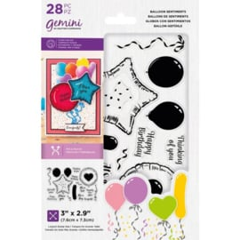 Gemini Clearstamp & Snijmal set - Balloon Sentiments