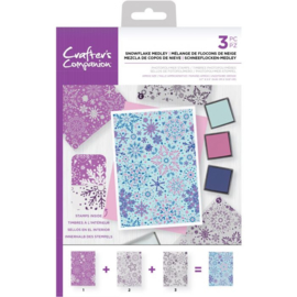 Crafter's Companion Background Layering Clearstamps - Snowflake Medley