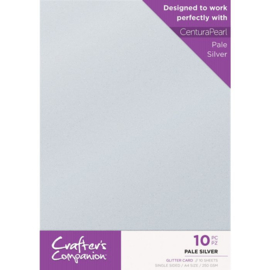 Crafter's Companion Glitter karton A4 a 10 vel - Pale Zilver