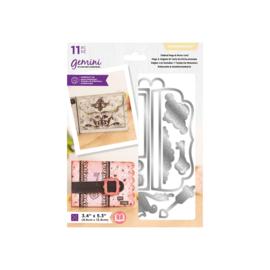 Gemini snijmallen - Dimensionals - Tabbed Page & Purse Card (Tabpagina & Portemonne Kaart)
