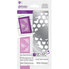 Gemini Decoratieve Outline Clearstamps & snijmal - Bee-Utiful Bees