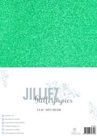 Jilliez A4 Glitterpapier Donkergroen