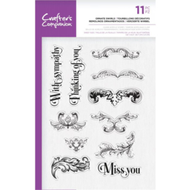 Crafter's Companion A5  clearstamp - Ornate Swirls
