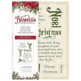 Poinsettia Perfection - Clearstamp - Joyeux Noel