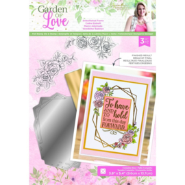 Garden of Love - Folie stempel en clearstamp set - Embellished Frame