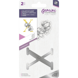 Gemini Metalen folie stempel & Clearstamp - Expressions - Letter X