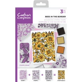 Crafter's Companion Background Layering Clearstamps - Bees in the border