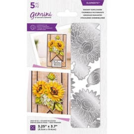 Gemini Elements snijmal - Radiant Sunflowers