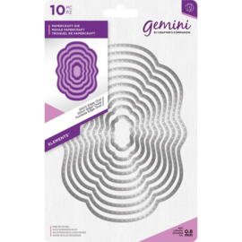 Gemini Elements - Stitch Edge Oval 2 (Stitch rand ovaal 2)