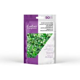 Crafter's Companion mixed pailletten pak - Smaragd groen