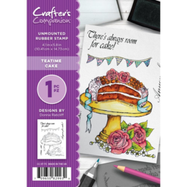 Crafter's Companion A6 unmounted rubberen stempel - Teatime Cake