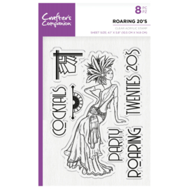 Crafter's Companion Clear stempel - Roaring 20's