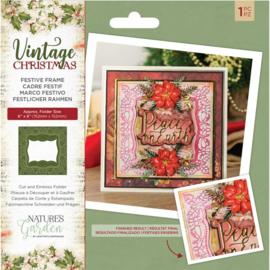 Vintage Christmas Cut&Emboss folder - Festive Frame