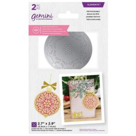 Gemini - Dubbelzijdige snijmal - Festive Bauble