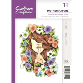 Crafter's Companion A6 unmounted rubberen stempel - Mother Nature
